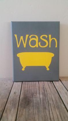 Wash Bathroom Canvas - pinned by pin4etsy.com