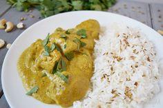 Pollo korma (Chicken Korma) - No me comes nada Pollo Korma, Comida India, Indian Food Recipes, Ethnic Recipes, Hummus, Thai Red Curry, Chicken Recipes, Cooking, Versace