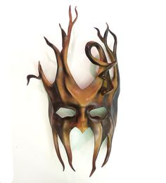Twists and Tendrils...Devilish...Jester...Tree-like... THIS IS A BIG MASK GREAT FOR BIGGER FACES / HEAD SIZES or if you just want a whole lot of mask!