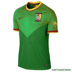 #Cameroun concept #jersey with #nikefootball for the #indomptable #lions #cameroon #brazil2014
