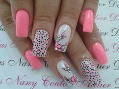 Nail art from the NAILS Magazine Nail Art Gallery, polish, pink Popular Nail Designs, Best Nail Art Designs, Fall Nail Designs, Nail Polish Designs, Polish Nails, Pink Nail Art, New Nail Art, Cool Nail Art, Pink Nails