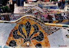 Cómo se hace un Trencadís? | BLOG de la Escuela de Mosaico:TrencadisBCN Antonio Gaudi, Taj Mahal, Barcelona, Mosaic Art, Chile, Art Projects, Abstract Art, Blog, Painting