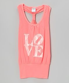 Look at this Pink Neon Back Loop Dress - Girls on #zulily today!