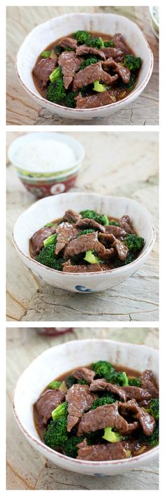 Beef and broccoli recipe. This dish is a popular Chinese recipe. Made with beef, broccoli in a brown sauce, you can make it at home with a few simple ingredients | rasamalaysia.com