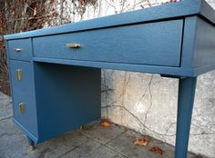 Bedroom #2: Sunbeam Vintage: Blue Mid Century Desk