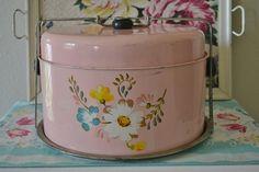 Vintage Pink Cake Tin