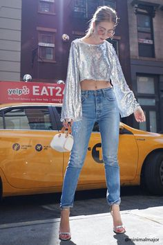 Product Name:Metallic Sequin Bell-Sleeve Top, Category:CLEARANCE_ZERO, Price:38