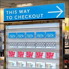 Retail Fixtures, Store Fixtures, Floor Graphics, Directional Signs, Slat Wall, Spas, Nordstrom Rack, Close Up, Cruise