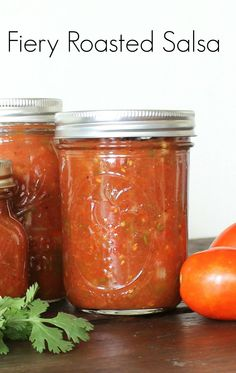 Fiery Roasted Salsa | a #canning recipe