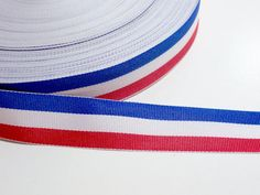 Red, White, and Blue Striped Grosgrain Ribbon 7/8 inch wide x 10 yds, Americana #Offray