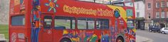 City Sightseeing open top double decker bus outside Windsor Castle