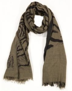 4a6318969ccd7 Big Tiger Double Gauze Scarf 60% Silk, 40% Cashmere Hand woven and Screen