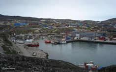 Sisimiut marina, Greenland.  Roads finish at the edge of town and just about everyone lives on the coast, so boat ownership is high!