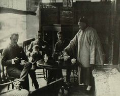 Tea time in China, circa 1875.
