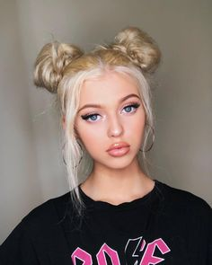 What is an astronauts favorite key on the keyboard?The space bar! (needed a space joke because i'm running out of captions for space bun photos) Two Buns Hairstyle, Bun Hairstyles, Space Buns Hair, Loren Gray, Grey Fashion, Pretty People, Redheads, Your Hair, Makeup Looks