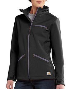 Carhartt Women s Crowley Black Rain Defender Wind Resistant Jacket  4fc387220