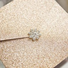 modern rose gold glittery pocket wedding invitations with rhinestone buckle Pocket Invitation, Pocket Wedding Invitations, Invitation Cards, Reception Card, Response Cards, Diamond Earrings, Hair Accessories, Rose Gold, Fancy