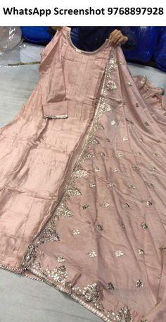Rajasthani Gota Patti work Suits राजस्थानी और पंजाबी सूट: Long gown with duptta Size - dolla silk Work - pita + biziya gota Nikkah Dress, Shadi Dresses, Anarkali Dress, Gota Patti Suits, Gota Patti Saree, Indian Attire, Indian Outfits, Lehenga Saree Design, Designer Party Wear Dresses