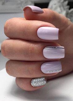 Round Nail Designs, Purple Nail Designs, Nail Designs Spring, Acrylic Nail Designs, Purple Nails With Design, Elegant Nail Designs, Purple Ombre Nails, Purple Acrylic Nails, Short Square Acrylic Nails