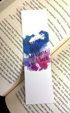 I love you to the Bookstore and Back Bookmark Handmade Bookmarks, Free Printable Bookmarks, Creative Bookmarks, Corner Bookmarks, Bookmark Images, Bookmark Ideas, Geek Cross Stitch, Cross Stitch Bookmarks, Cool Minecraft Houses