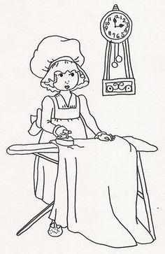 Girl Ironing (2)