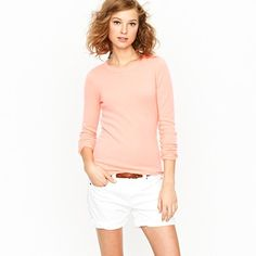Fresh and deliciously soft at the same time. I have a serious J.Crew sweater obsession right now...