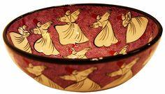 DERVISH CERAMIC BOWL - PINK, TURKISH CERAMIC