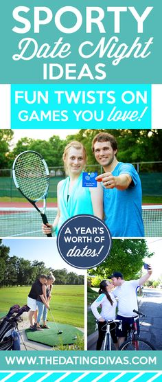 These are such fun active date ideas! Games we already love...but with a totally unique twist! How creative! www.TheDatingDivas.com