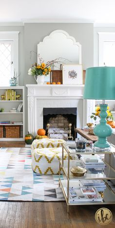 Add a pop of modern color to your fall home decor. Check your local HomeGoods…