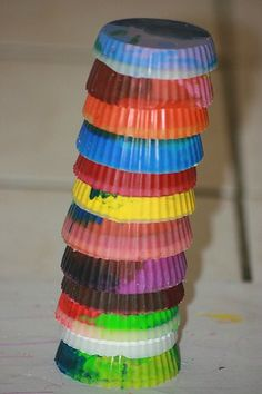 recycled crayons- 4 easy crafts to do with kids