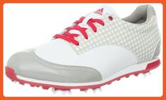 adidas Women's Driver Grace Golf Shoe,Running White/Chrome/Punch,9.5 M US - Athletic shoes for women (*Amazon Partner-Link)