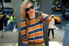 joanna hillman, bright stripes #fashion