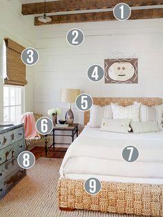 Get This Look: Neutral Rustic Bedroom | 9 tips from Remodelaholic.com #getthislook #rustic #neutral #bedroom @Remodelaholic .com .com