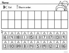 Numbers 1-20: Worksheets and center activities to reinforce counting and number order to 20.