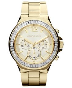 Michael Kors Chronograph Gramercy Gold Tone Watch