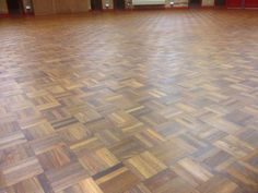 Sanding and oiling wooden floor at Church Hall in Bar Hill Cambridgeshire ~ Art of Clean - UK - 01223 863632
