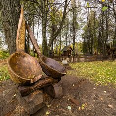 """Giant spoons in the museum """"Kostromskaya Sloboda"""" by Alexander Polomodov on 500px"""