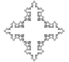 Koch snowflake - squares instead of triangles