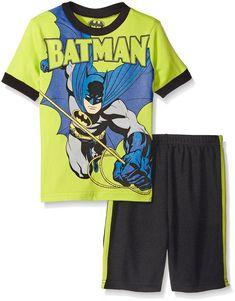 5 NEW W//T BATMAN BOYS SHORT OUTFIT 4 6 7