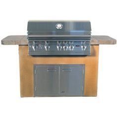 Lion Premium Grills Prominent Q Brick Grill Brick Finish: Used Brick, Countertop Tile Type: Cliff Pointe Mountain, Fuel Type: Natural Gas