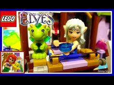 Lego Elves 41177 The Precious Crystal Mine set part 2 - Unboxing, Speed ...