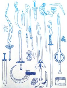 Lady Knight weapons illustration // Abby Boeh