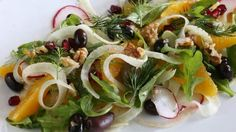 Fennel, orange and walnut salad