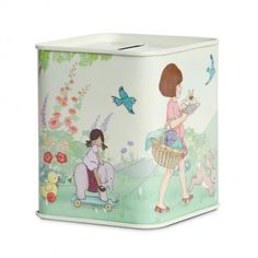 Birthday Surprise Tin Money Box by Belle & Boo Christmas Stocking Fillers, Christmas Stockings, Little People, Little Ones, Money Tin, Summer Scenes, Wooden Train, Educational Toys For Kids, Cutlery Set