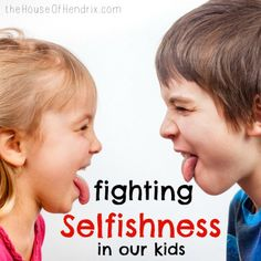 How to Fight Selfishness in our Children - when we live in a Self-Centered Culture. This tackles why kids fight and the heart issue behind it?
