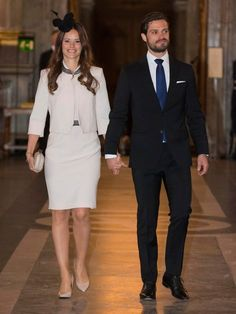 Pregnant Princess Sofia of Sweden at an arts event with Prince