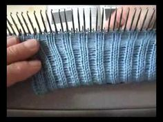 Several edges that you can create with your knitting machine