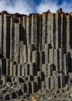 Basalt Columns, the wall - Iceland