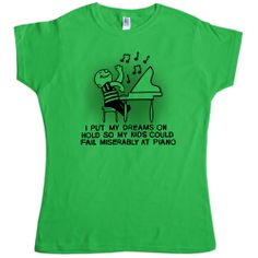 Dreams on Hold funny t-shirt - #MothersDay at 8Ball.co.uk