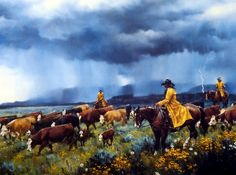 Artist Jack Sorenson Unframed Cowboy Western Print Dampened Enthusiasm | WildlifePrints.com